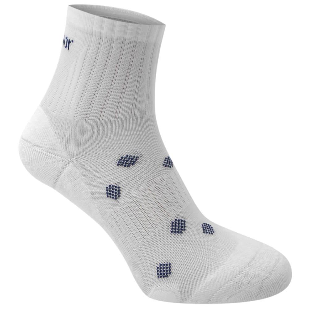KARRIMOR Women's Quarter Running Socks, 2 pack - WHITE