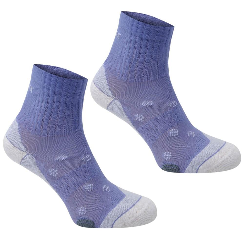 KARRIMOR Women's Quarter Running Socks, 2 pack - LILAC