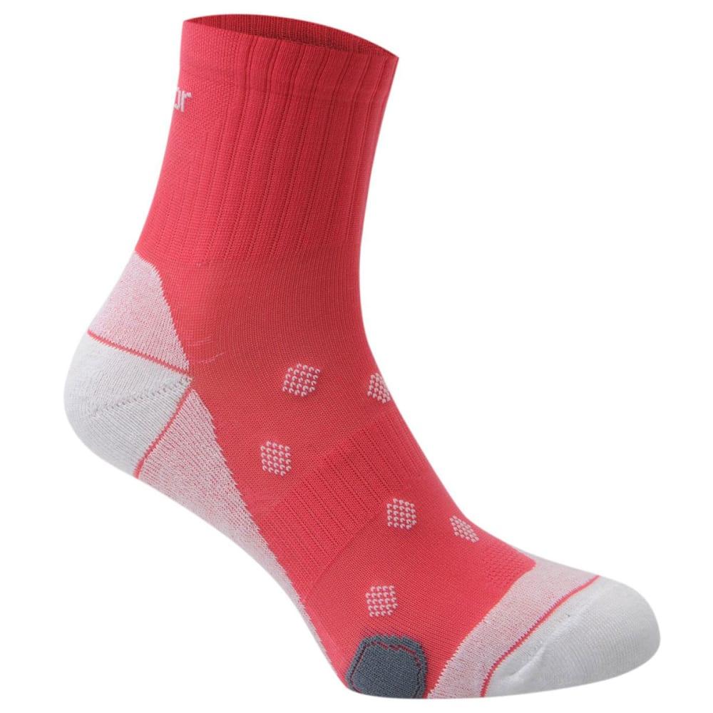 KARRIMOR Women's Quarter Running Socks, 2 pack - HOT PINK