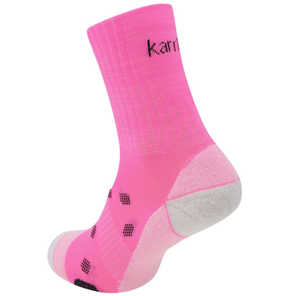 KARRIMOR Women's Quarter Running Socks, 2 pack - BRIGHT PINK
