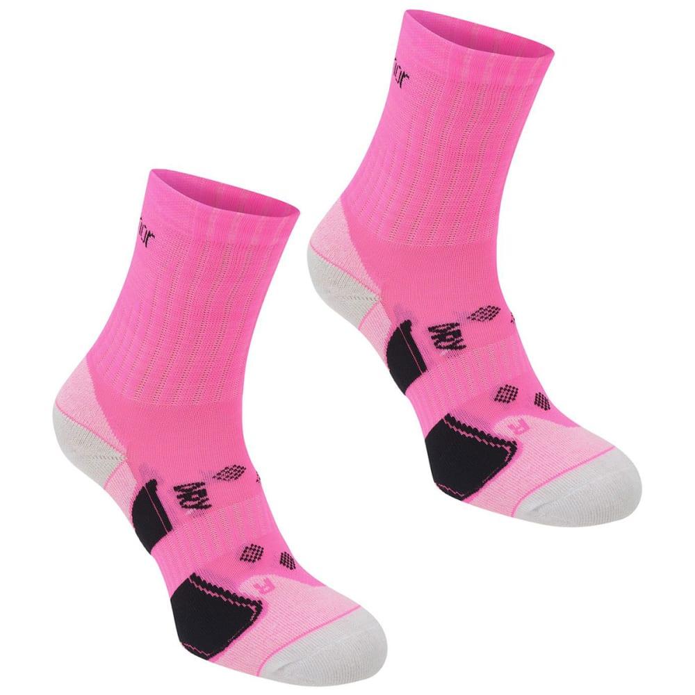 KARRIMOR Women's Quarter Running Socks, 2 pack - BRIGHT PINK