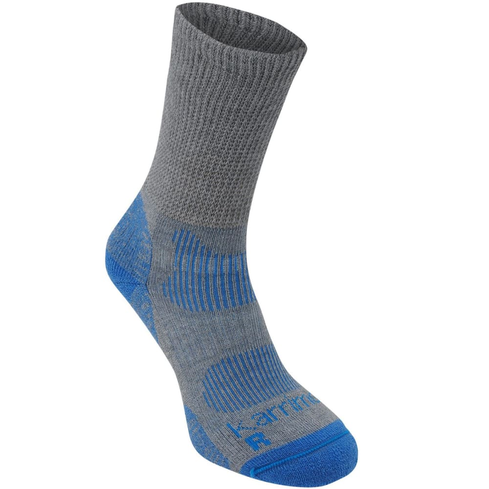 KARRIMOR Women's Merino Fiber Lightweight Hiking Socks - GREY/BLUE