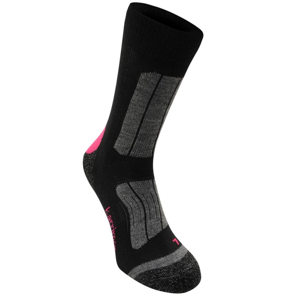 KARRIMOR Women's Trekking Socks - BLK/FUCSHIA