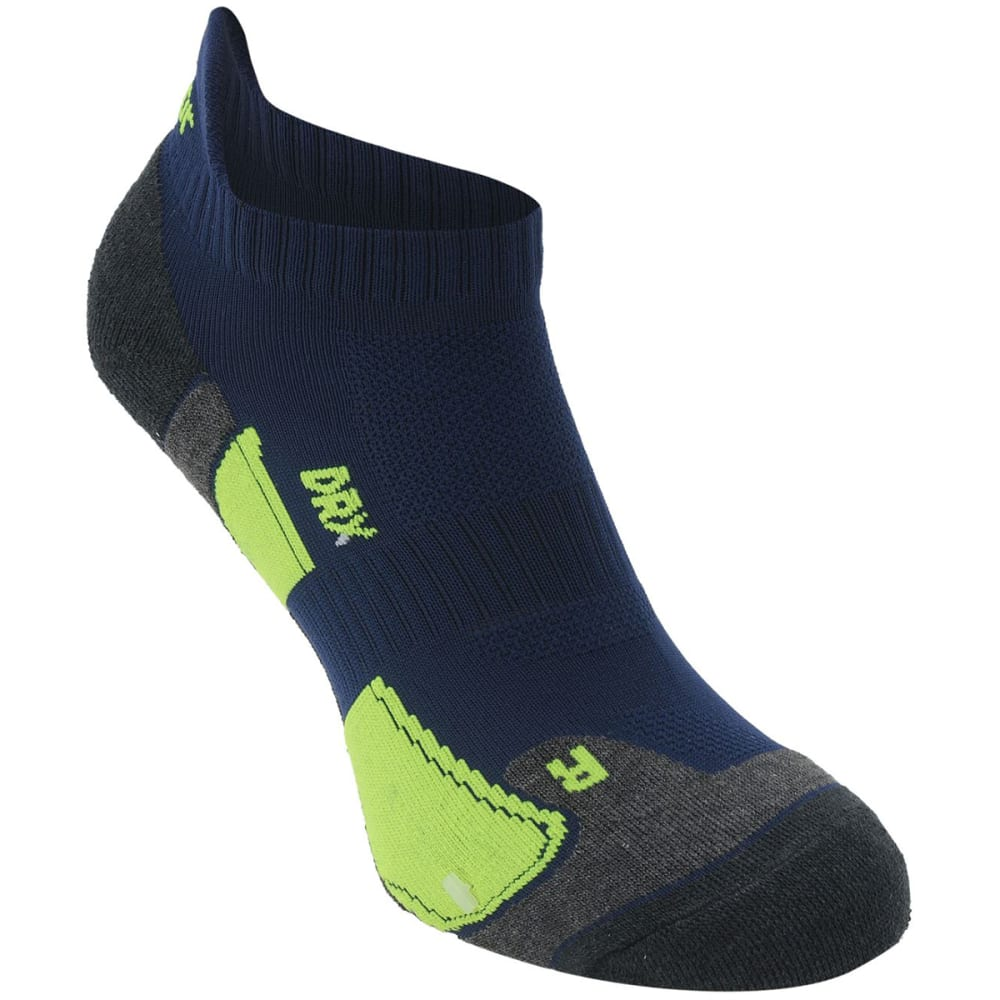 KARRIMOR Men's Running Socks, 2 Pack - NVY/FLUOYELLOW