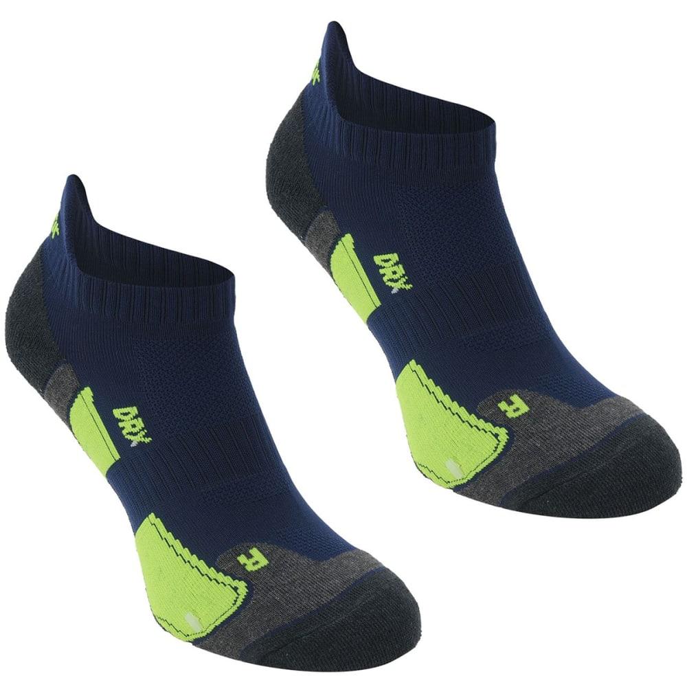 KARRIMOR Men's Running Socks, 2 Pack - NVY/FLUOYELLOW