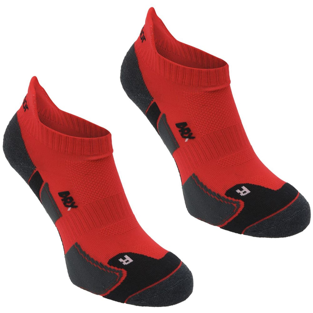 KARRIMOR Men's Running Socks, 2 Pack - RED/BLACK