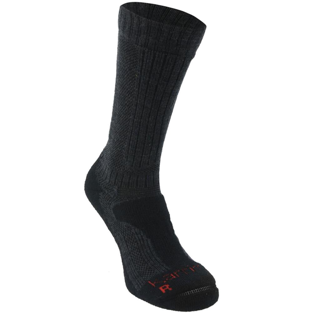 KARRIMOR Men's Merino Fiber Midweight Hiking Socks - CHAR/BLK