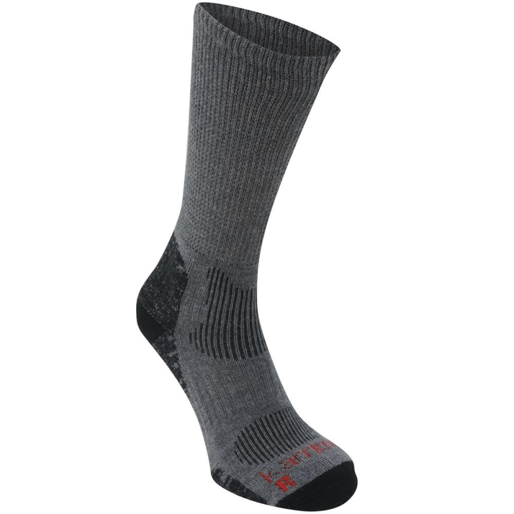 KARRIMOR Men's Merino Fiber Lightweight Hiking Socks - GREY/BLK