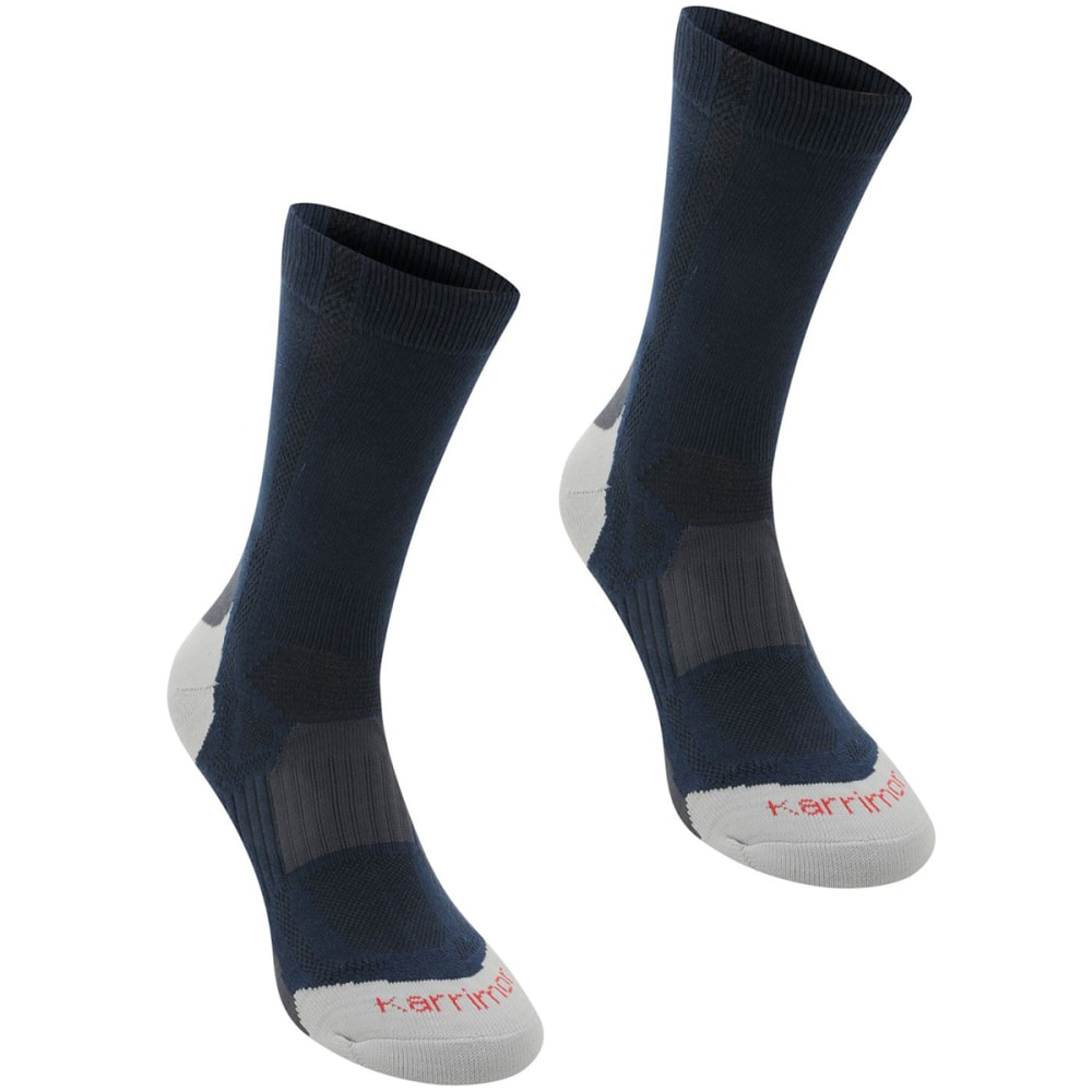 KARRIMOR Men's Hiking Socks, 2 Pack - NAVY