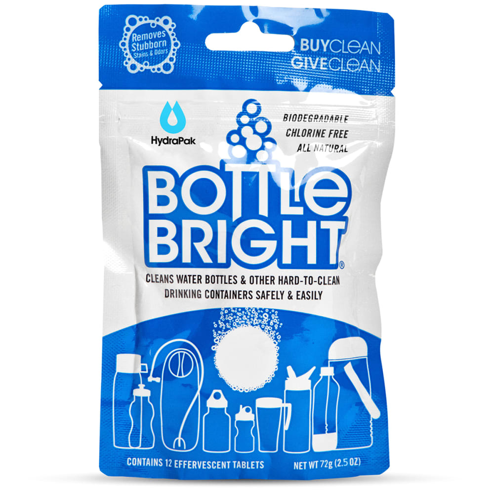 HYDRAPAK Bottle Bright Cleaning Tablets, Pack of 12 - NO COLOR