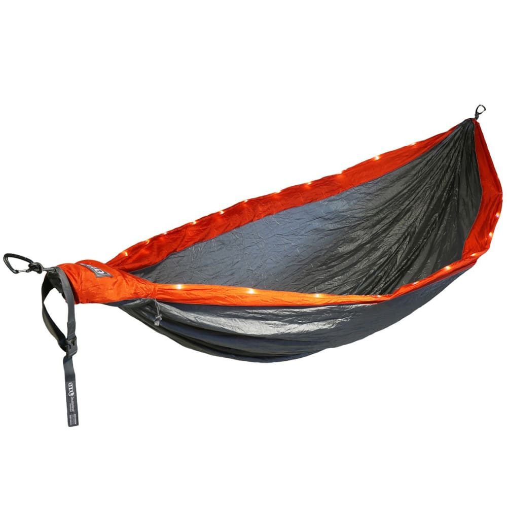 ENO DoubleNest LED Hammock - ORANGE/GREY DL006