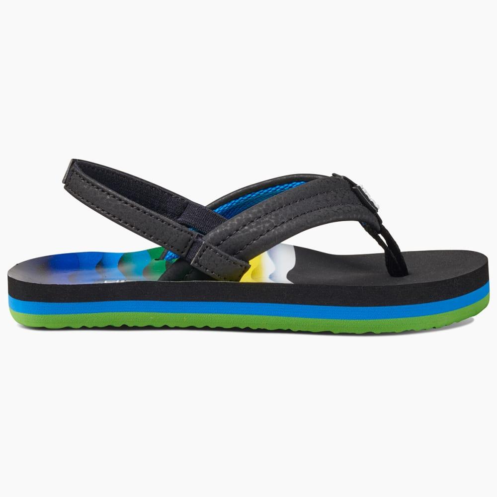 REEF Boys' Ahi Flip Flops - BLUE