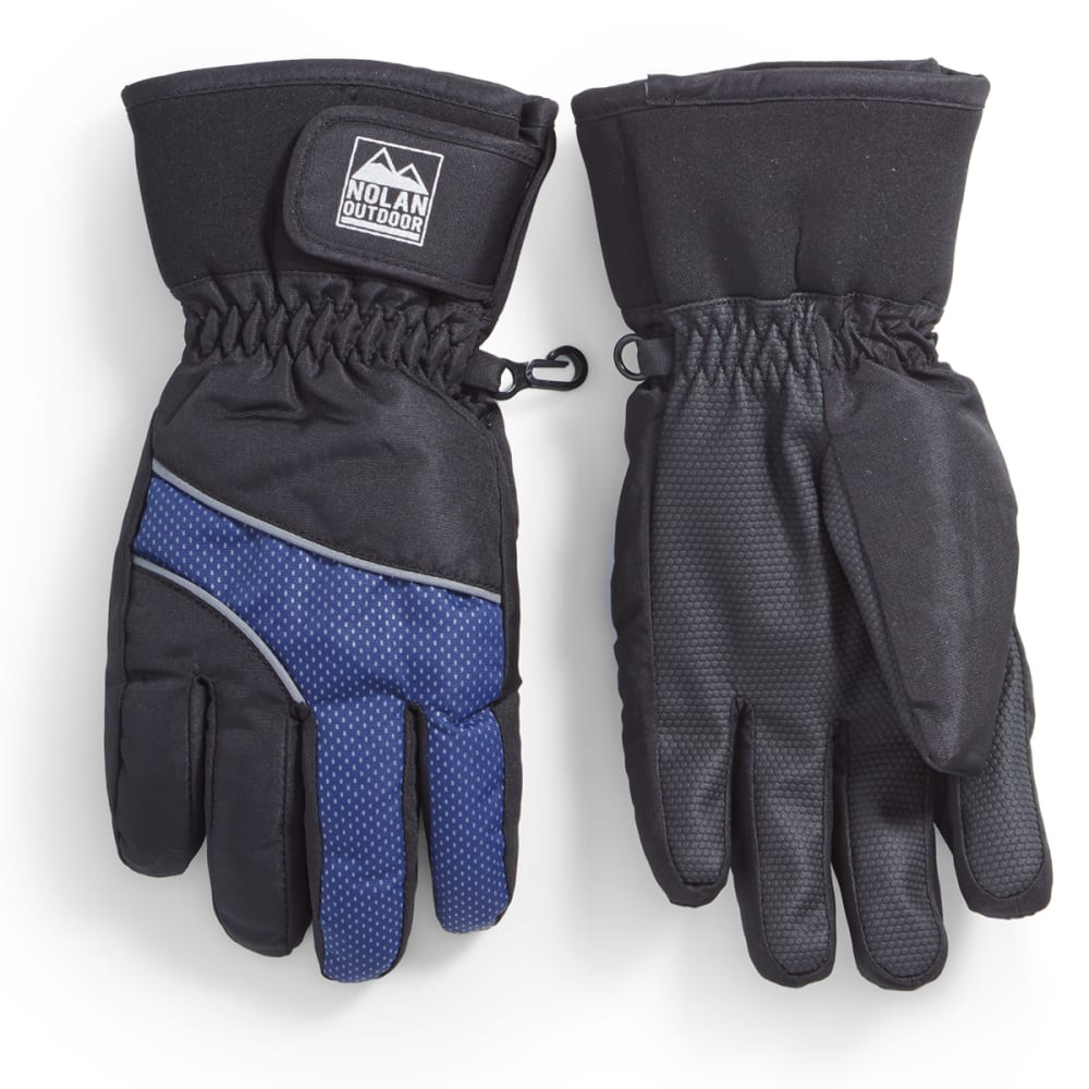 NOLAN Boys' Hybrid Ski Gloves with Contrast Insert - ASST BLK/BLU