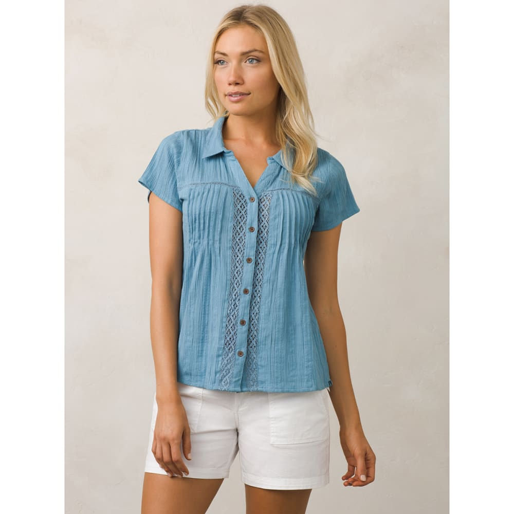 PRANA Women's Katya Short-Sleeve Shirt - DSSK-DUSKY SKIES
