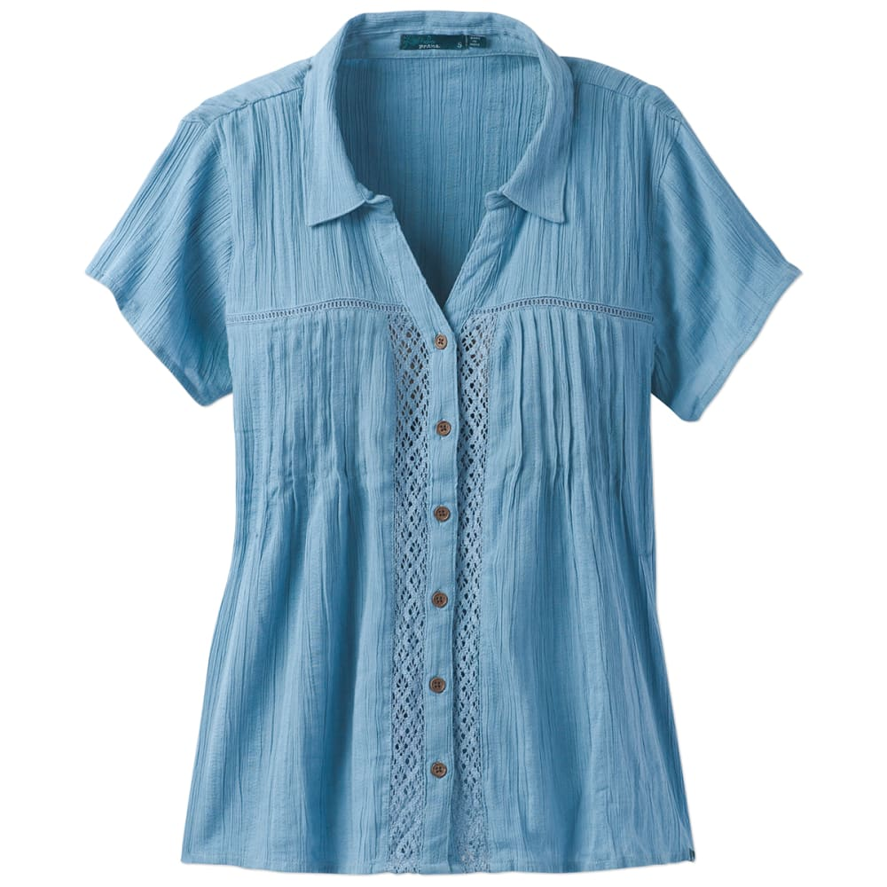 PRANA Women's Katya Short-Sleeve Shirt - DSSK-DUSKY SKIES