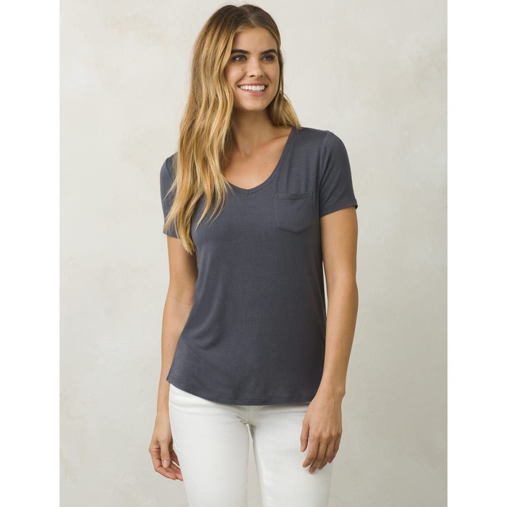 PRANA Women's Foundation V-Neck Short-Sleeve Tee - COAL-COAL