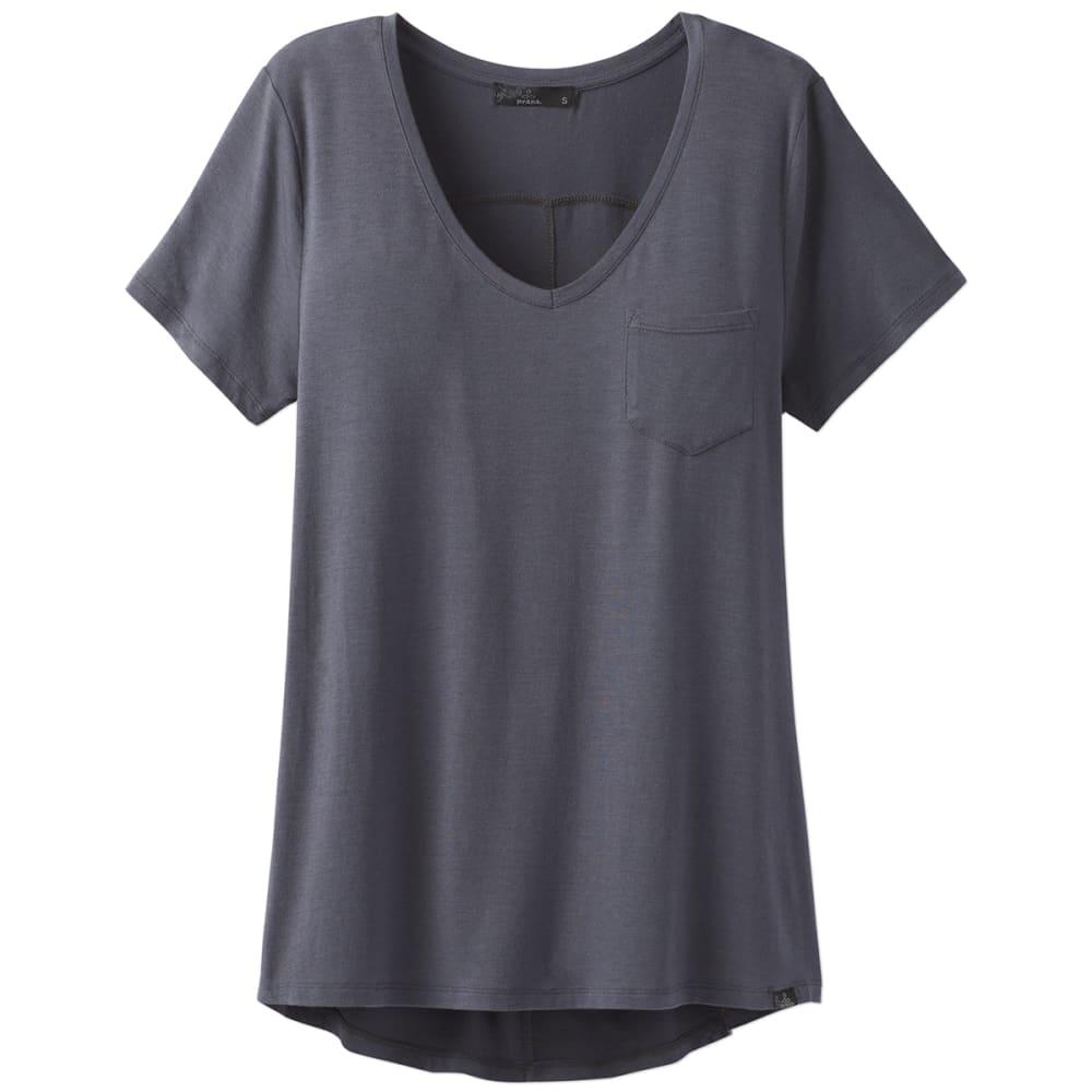 PRANA Women's Foundation V-Neck Short-Sleeve Tee - COAL-COAL