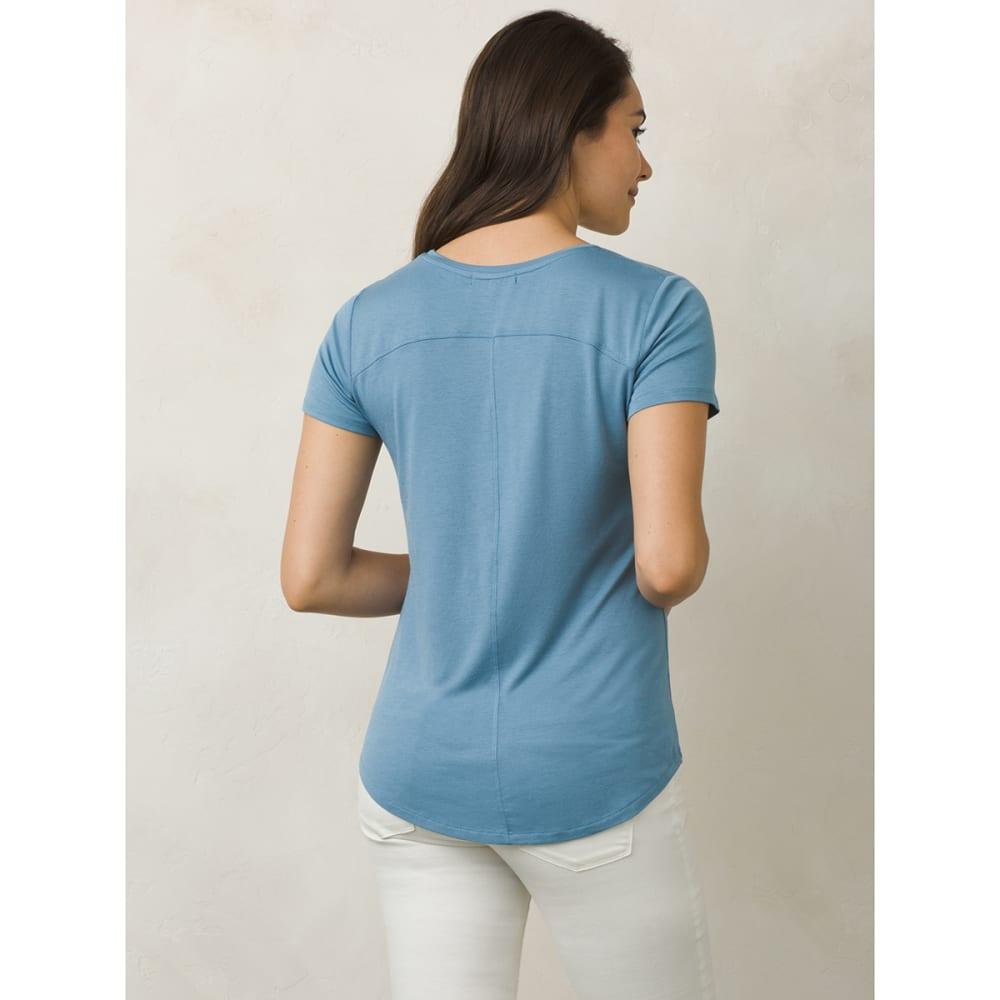 PRANA Women's Foundation V-Neck Short-Sleeve Tee - DSSK-DUSKY SKIES