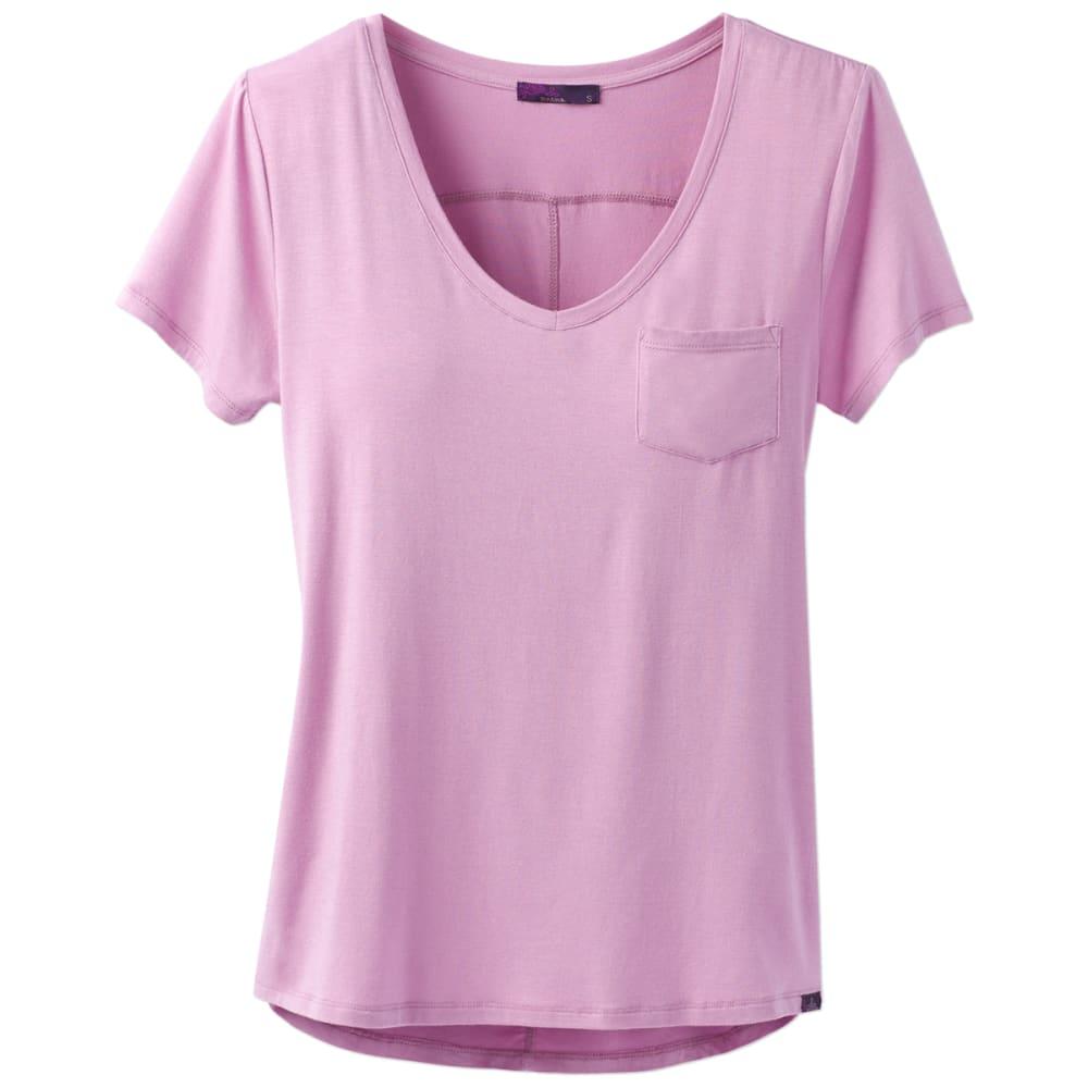 Prana Women's Foundation V-Neck Short-Sleeve Tee - Orange - Size XL W11170142