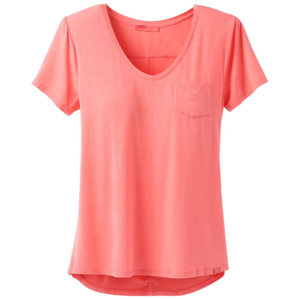 Prana Women's Foundation V-Neck Short-Sleeve Tee - Orange - Size S W11170142