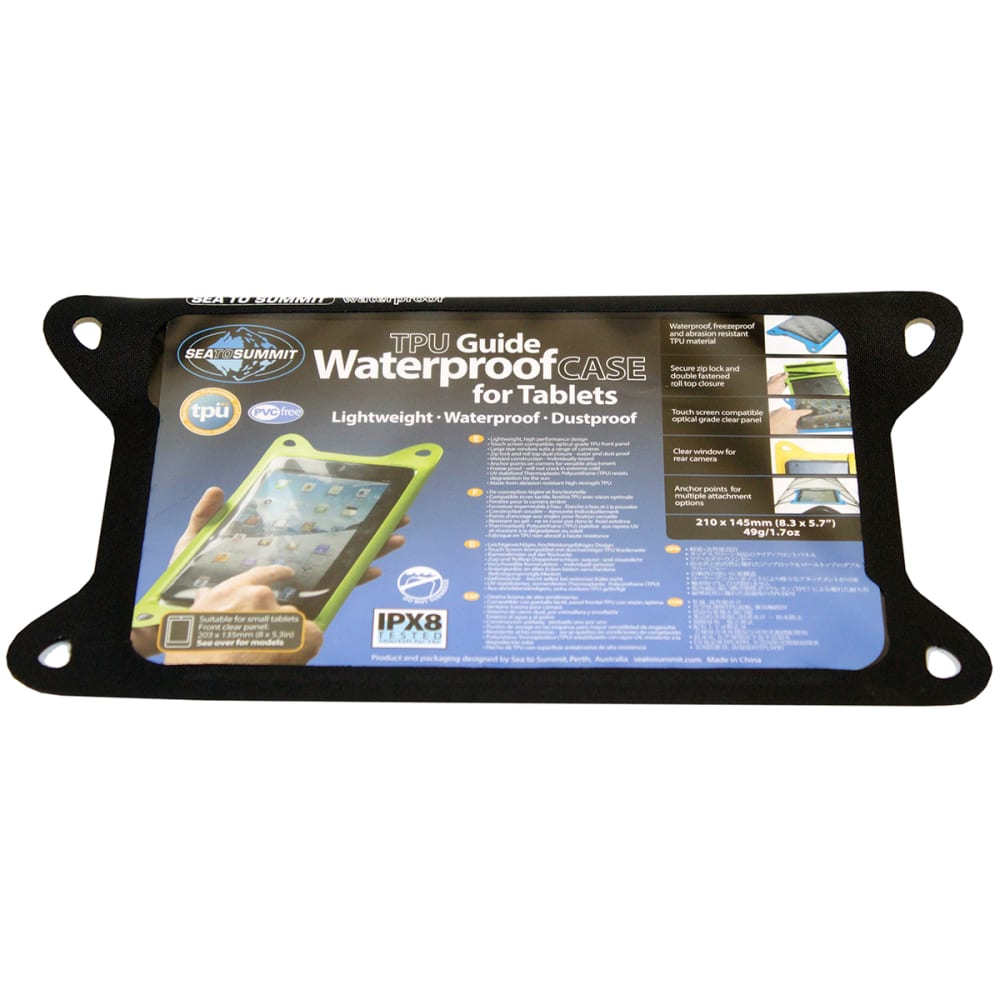 SEA TO SUMMIT TPU Guide Waterproof Case for Tablets, Small - BLACK