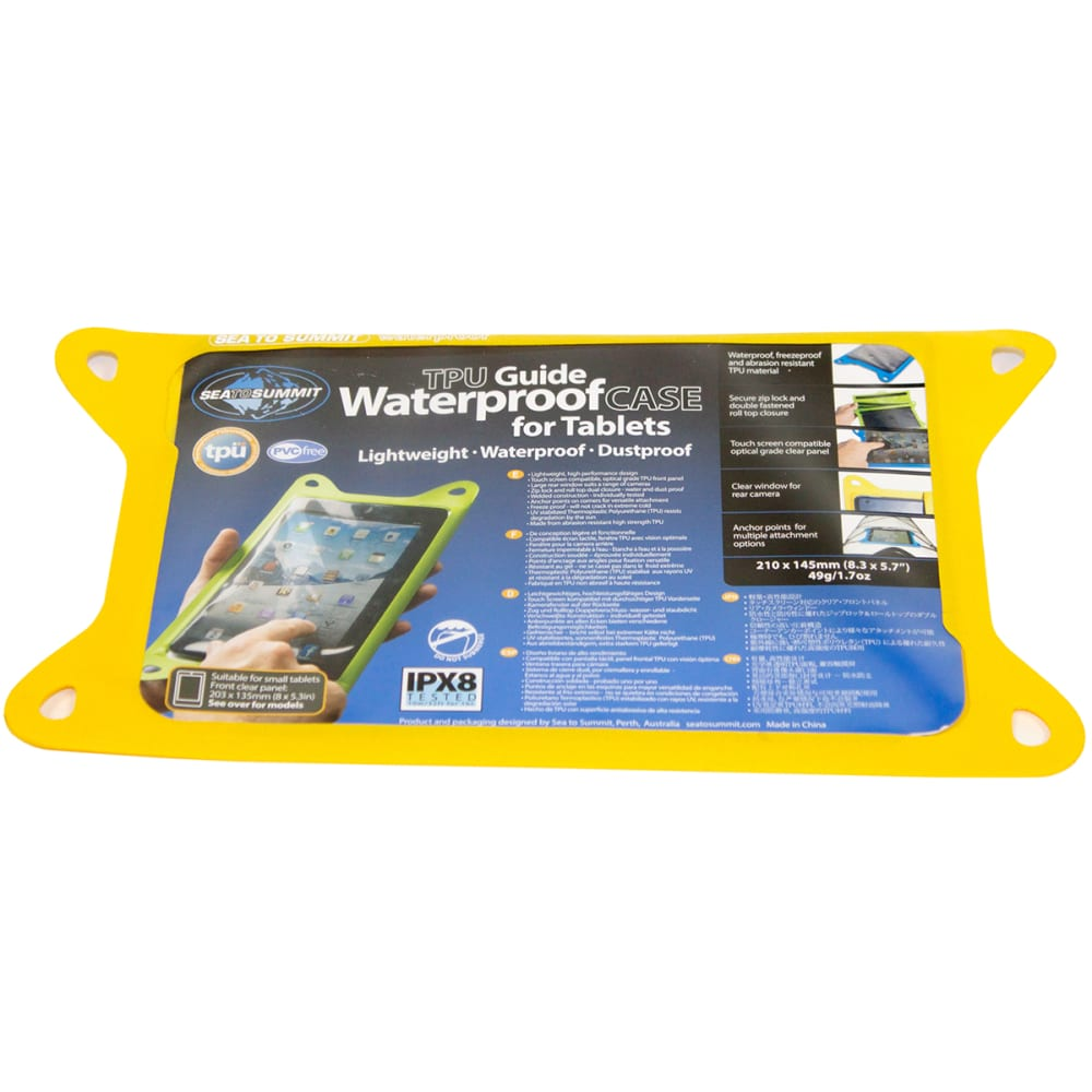 SEA TO SUMMIT TPU Guide Waterproof Case for Tablets, Small - YELLOW