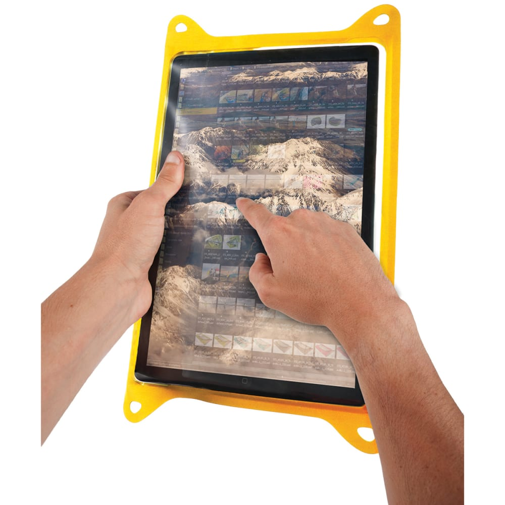 SEA TO SUMMIT TPU Guide Waterproof Case for Tablets, Large - YELLOW
