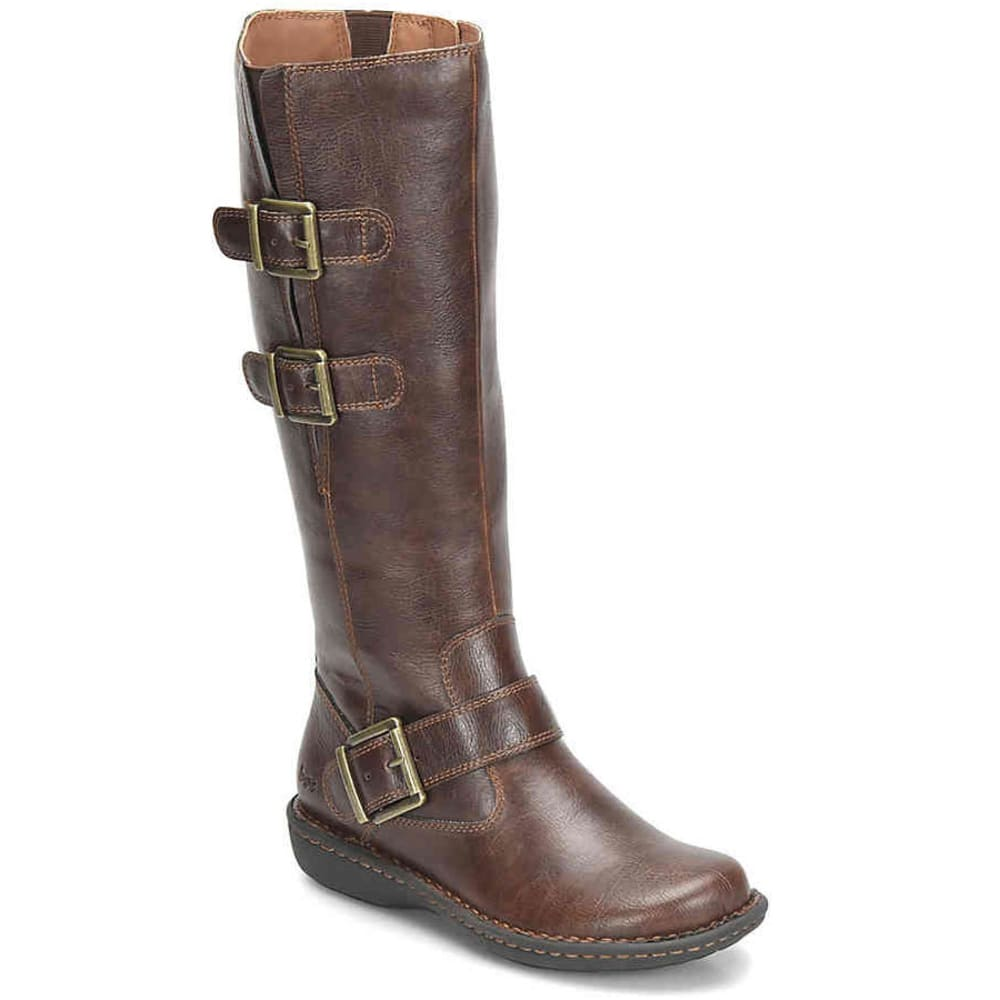 B.O.C. Women's Virginia Tall Boots, Coffee, Wide 6