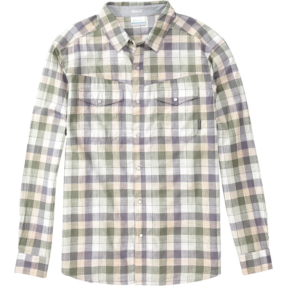 COLUMBIA Men's Leadville Ridge Long-Sleeve Shirt - 040-GRANITE CHECK