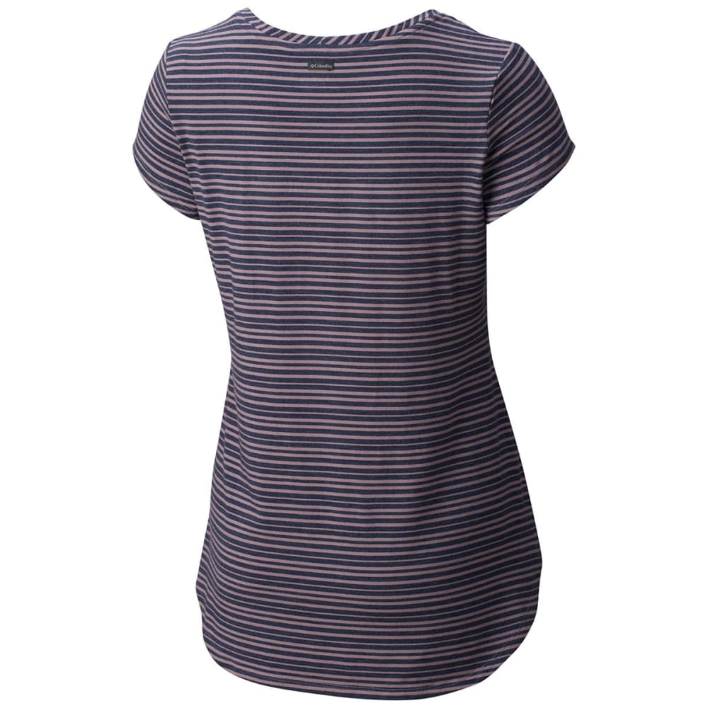 COLUMBIA Women's All Who Wander Short-Sleeve Shirt - 533-SPARROW HTHR STR