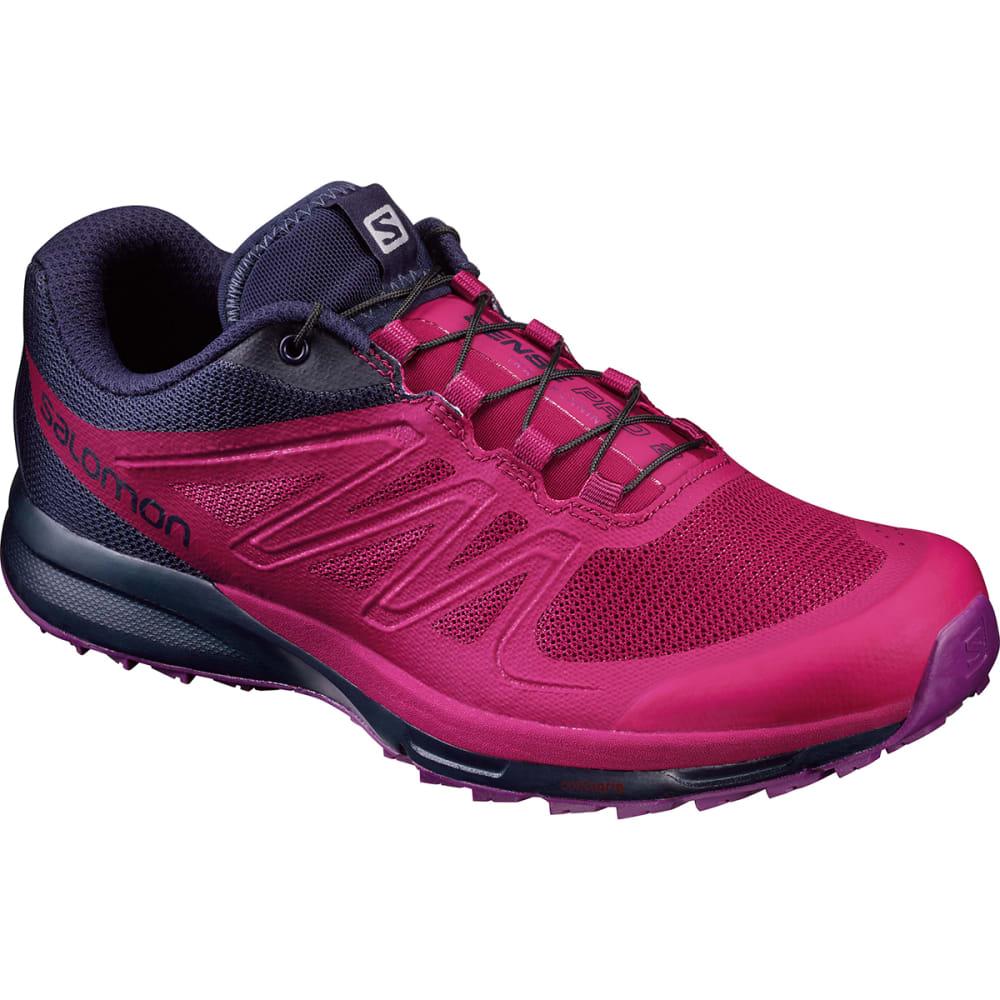 SALOMON Women's Sense Pro 2 Trail Running Shoes, Sangria/Evening Blue/Grape - SANGRIA/EV BLUE/GRJ