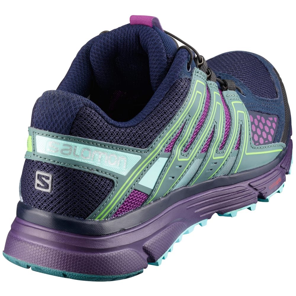 SALOMON Women's X-Mission 3 Trail Running Shoes, Navy Blazer/Grape Juice/North Atlantic - NAVY BLAZE/GRJ/NORTH