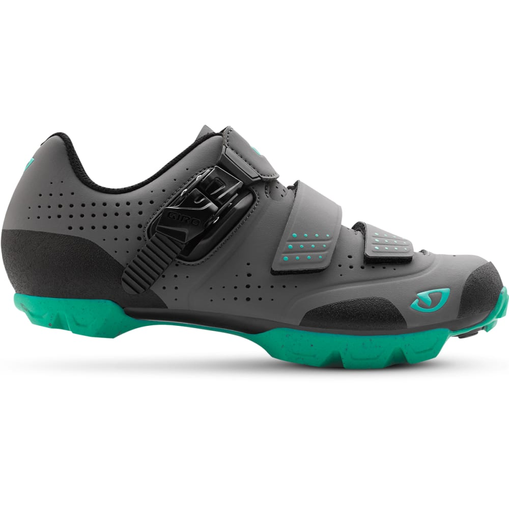 GIRO Women's Manta R Cycling Shoes - CHARCOAL/TURQUOISE