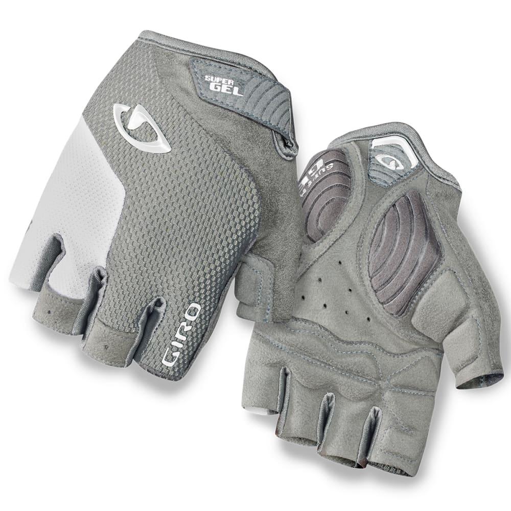 GIRO Women's Strada Massa Supergel Cycling Gloves - SILVER/WHITE