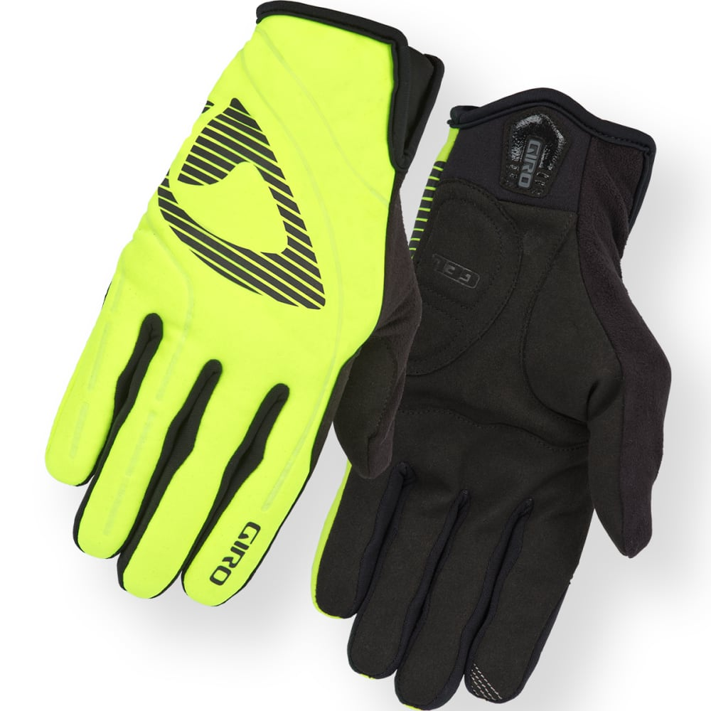 GIRO Men's Blaze Cycling Gloves - HIGHLIGHT YLW/BLK