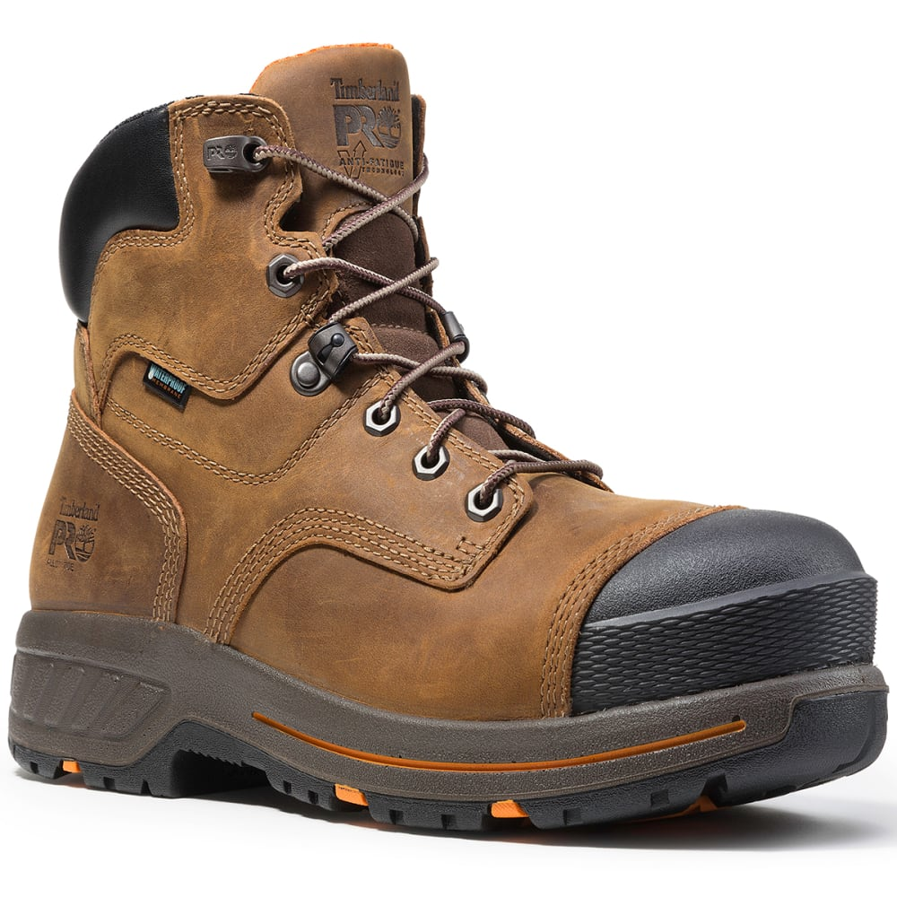 TIMBERLAND PRO Men's 6 in. Helix HD Waterproof Composite Toe Work Boots, Distressed Brown - DISTRESSED  BROWN