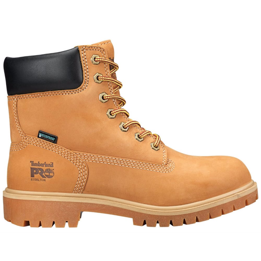 TIMBERLAND PRO Women's 6 in. Direct Attach Waterproof Insulated Steel Toe Work Boots, Wheat Nubuck - WHEAT NUBUCH