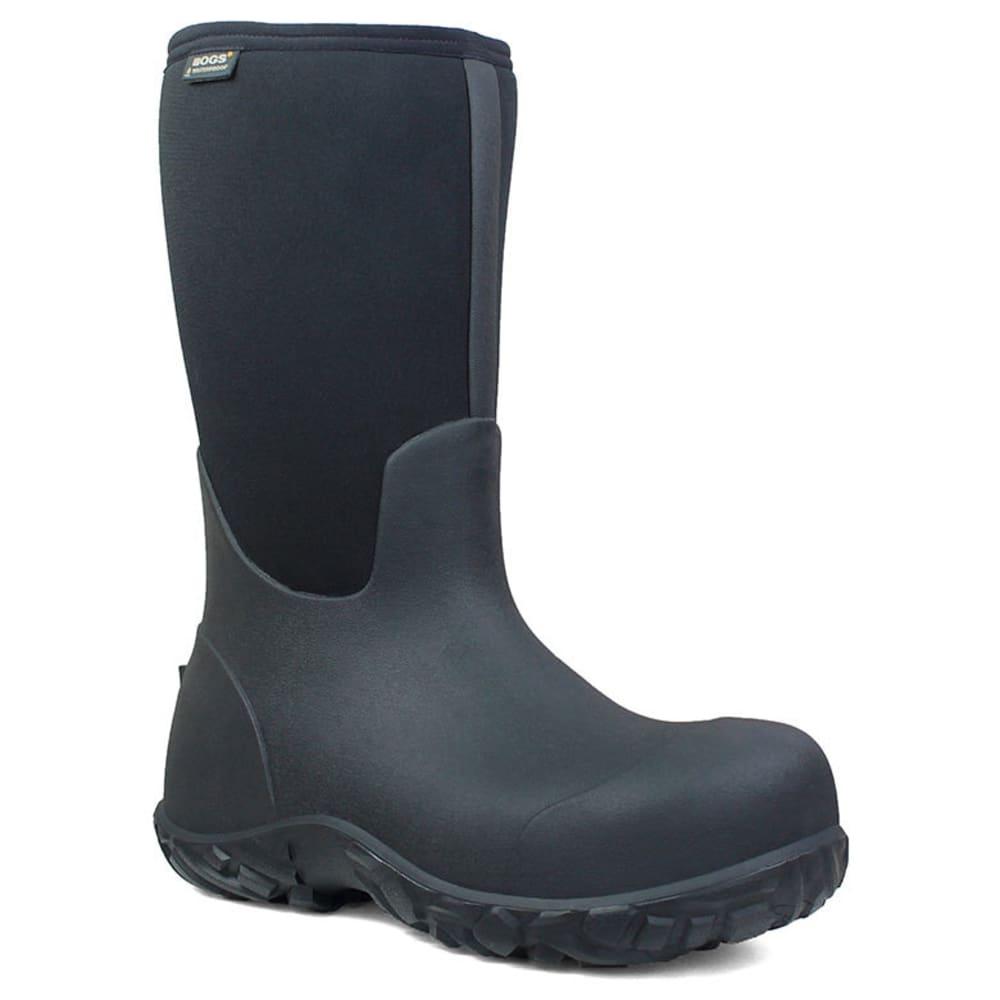 BOGS Men's 13 in. Workman Waterproof Composite Toe Work Boots, Black 7
