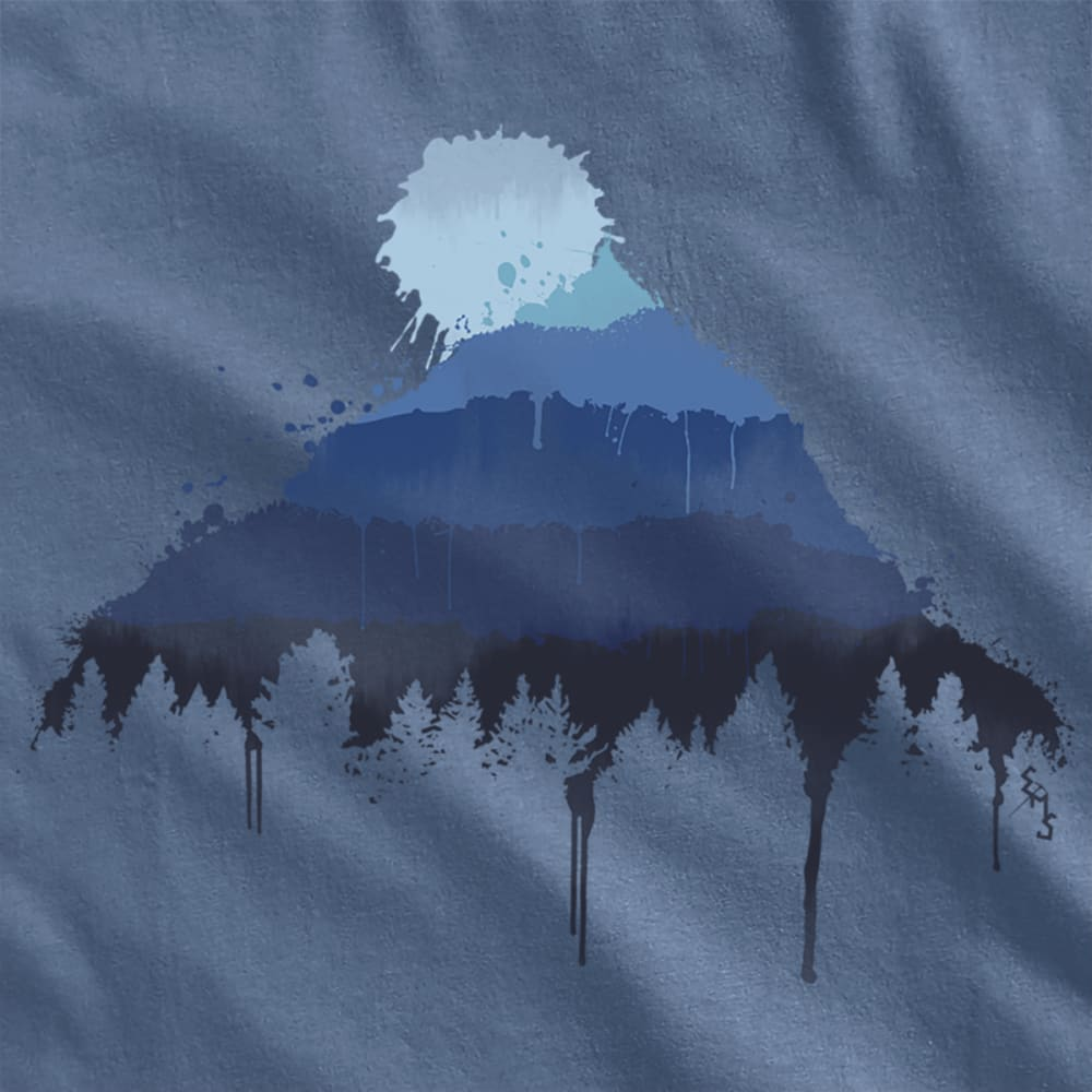 EMS Men's Mountain Splash Graphic Tee - VINTAGE INDIGO