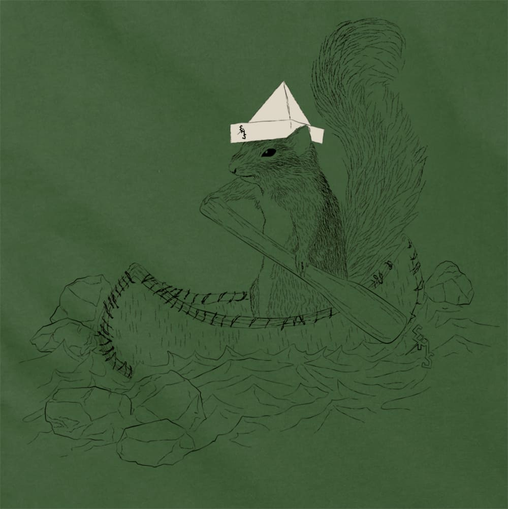 EMS Men's Captain Irving B. Squirrel Graphic Tee - BRONZE GREEN