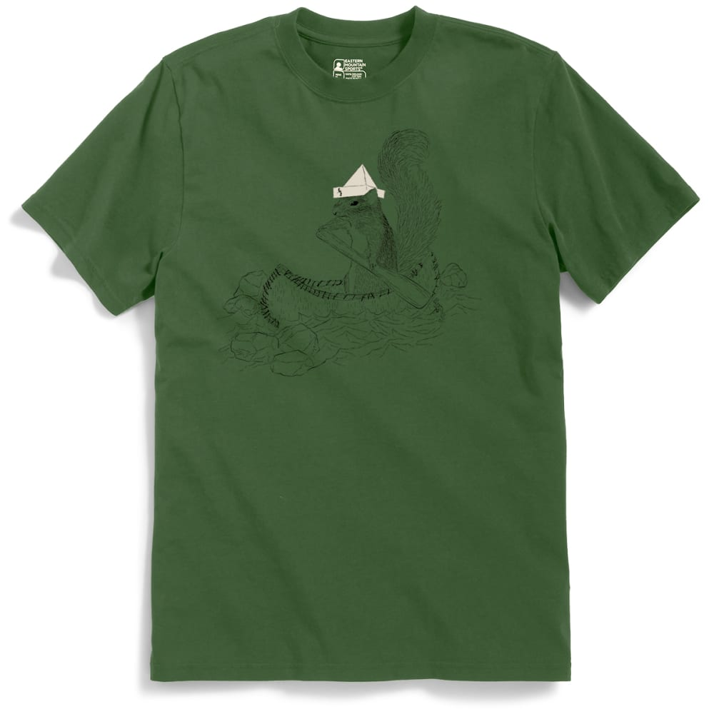 EMS Men's Captain Irving B. Squirrel Graphic Tee - BRONZE GREEN