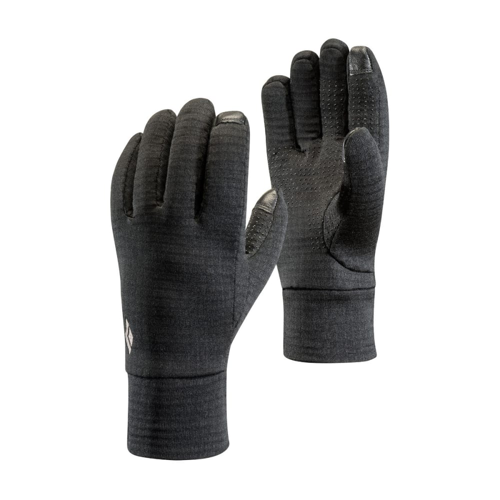 BLACK DIAMOND Men's Midweight Gridtech Fleece Gloves - BLACK