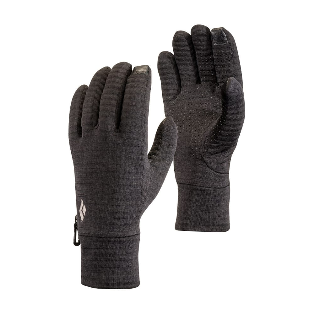 BLACK DIAMOND Men's Lightweight Gridtech Fleece Gloves - BLACK