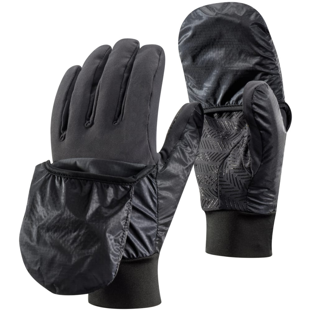 BLACK DIAMOND Wind Hood Softshell Gloves, Smoke - SMOKE