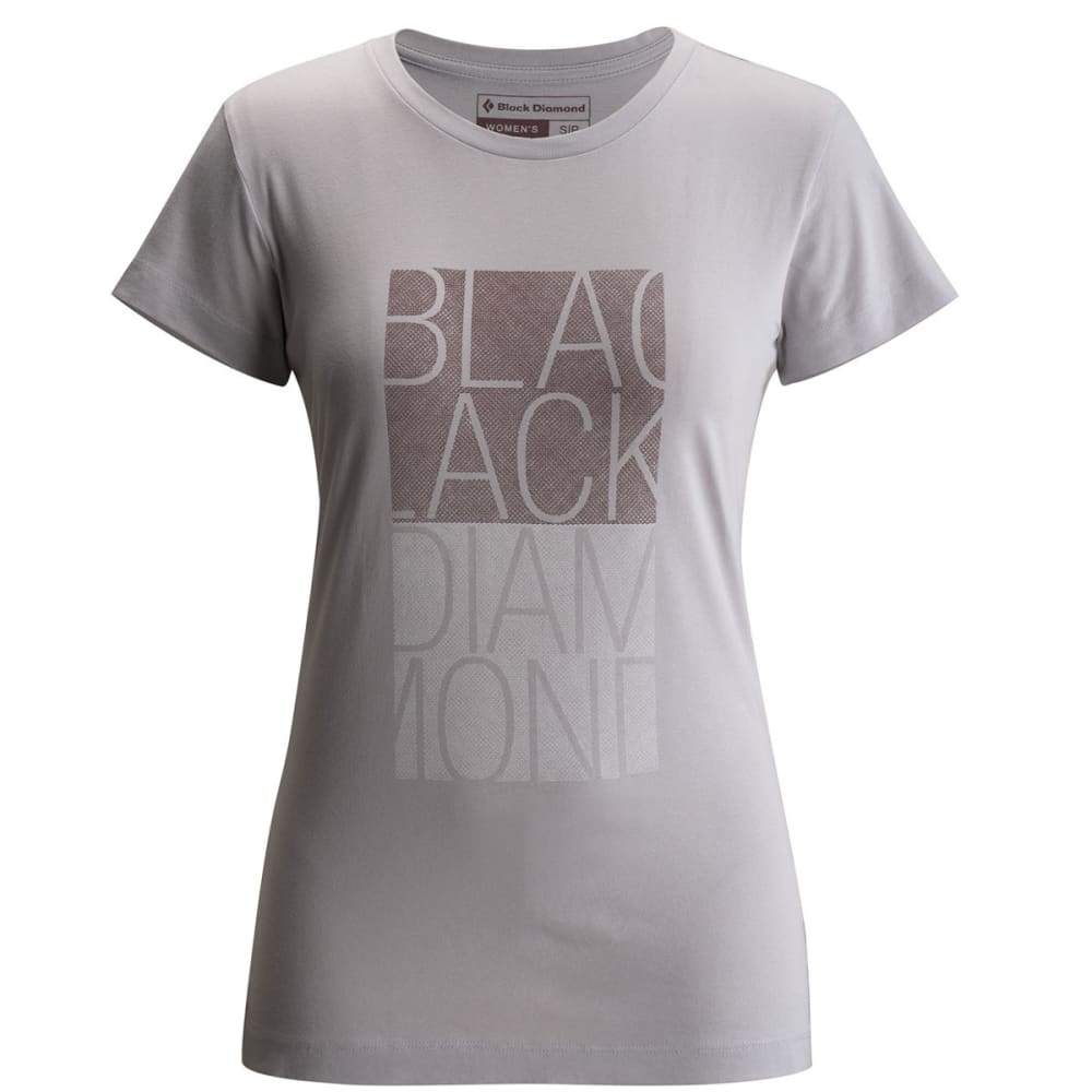 BLACK DIAMOND Women's SS BD Block Tee - ALUMINUM