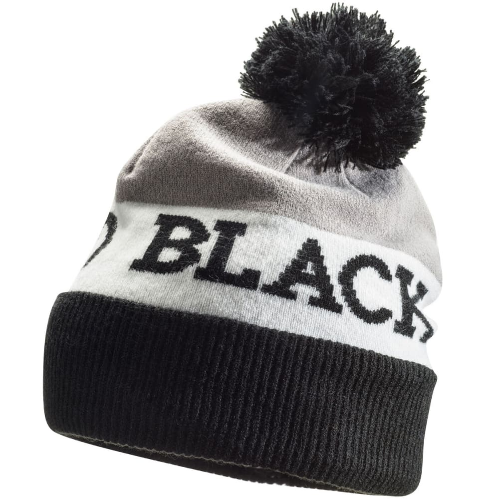 BLACK DIAMOND Tom Pom Beanie - BLACK-WHITE-NICKEL