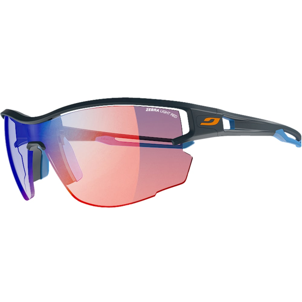 JULBO Aero Sunglasses with Zebra Light Red, Dark Blue/Blue - DARK BLUE/BLU