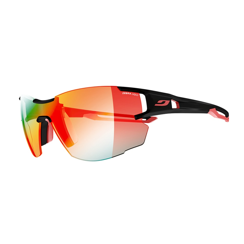 JULBO Aerolite Sunglasses with Zebra Light Fire, Black/Red - BLACK/RED
