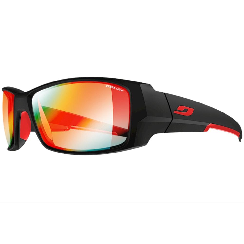 JULBO Armor Sunglasses with Zebra Light Fire, Matt Black/Red - BLACK/RED