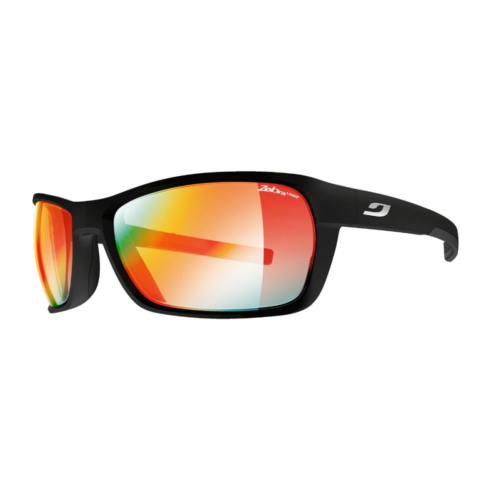 JULBO Blast Sunglasses with Zebra Light Fire, Matt Black - BLACK/LOGO